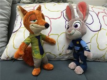 2017 Zootopia Movie Plush Rabbit Judy Hopps and Fox Nick Wilde Kids 28cm Plush Action Figure toys