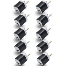 Universal Mobile phone charger 10Pcs USB Power Adapter EU Plug Wall Travel Charger for oneplus 3 for Samsung S7 Ap 27