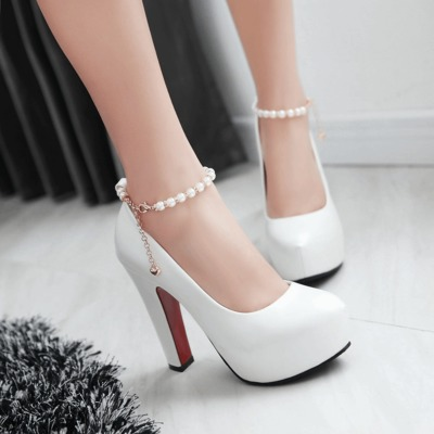 high heels pumps women wedding shoes platform shoes white sy-2251<br>
