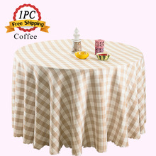 Free Shipping 1PC Luxury Polyester Plaid Party Tablecloth Wedding Table Linen for Marriage Party Decoration Event Table Cloth