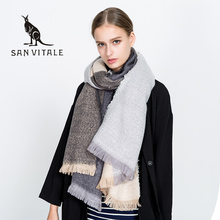 Scarves For Women Scarf Gift Cape Famous Brand Clothing Skull Accessories Apparel Winter Warm Cashmere Plaid Pashmina For Dress(China)