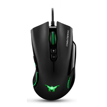 CW10 4800 DPI Wired Gaming Mouse Mice 7 Buttons Design 6 Breathing LED Colors Changing High Precision Gamer PC MAC(black) - Pamela digital Store store