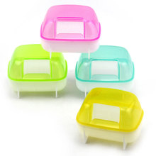 Small Animal Hamster Squirrel Sauna Sand Bath Room Bathing Bathroom Potty Toilet Rodent Mice Cage