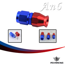 PQY RACING- High Quality PTEF AN6 AN-6 Straight REUSABLE SWIVEL TEFLON HOSE END FITTING AN6 PQY-SL6000-06-311
