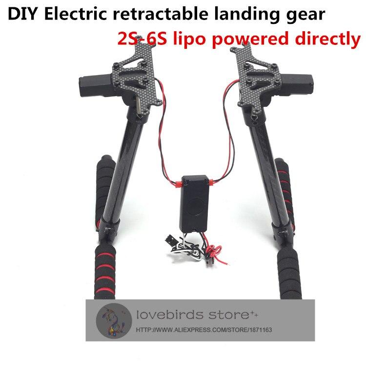 DIY small carbon fiber electric retractable landing gear suitable for DIY FPV drones compatible with DJI phantom quadcopter<br><br>Aliexpress