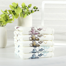 JZGH 34*75cm 4pcs/lot Floral Cotton Terry Hand Towels Set,Printed Patterned Face Bathroom Hand Towels Set,Toallas Algodon,T969