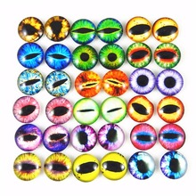 100pcs Glass Dragon Eye Covered Cabochons Assorted Round for Doll Making and Jewelry Settings 6/8/10mm