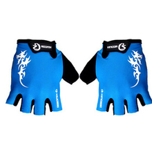 Fashion Bicycle Gloves Outdoor Motorcycle Bloves bike Half Finger Microfiber Silicone Sports Velcro QXST-004