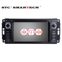 SMARTECH 1 Din Android 7.1.1 OS 6.2 inch Car Radio DVD Player GPS Navigation Head Unit For JEEP Wrangler Compass Grand Cherokee