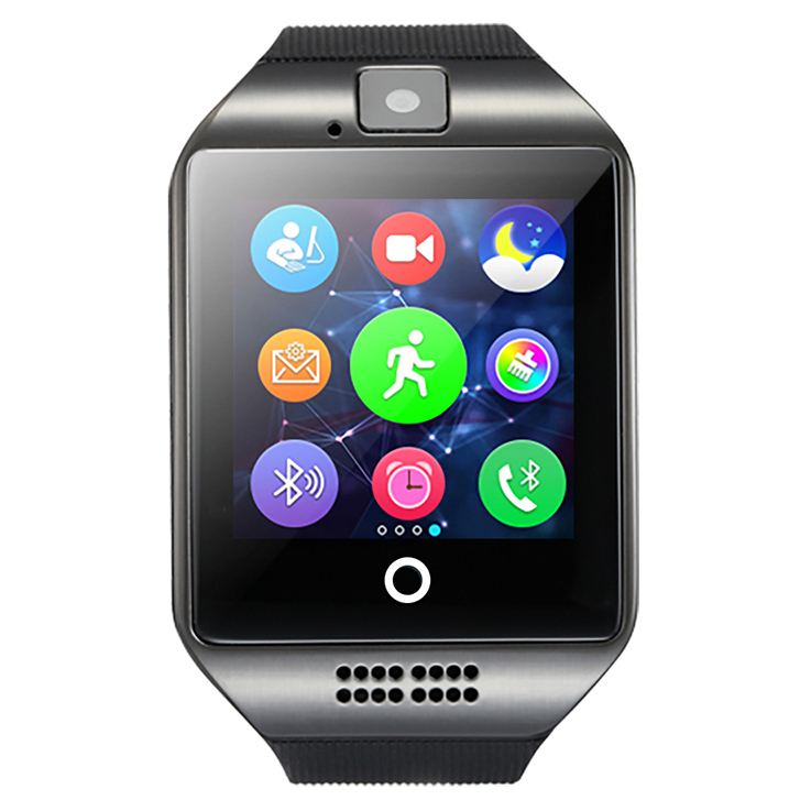 Smart watch Q18 with Touch Screen with camera support SIM TF card Bluetooth smartwatch for Android IOS iPhone<br>