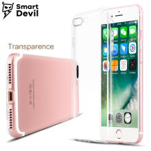 SmartDevil Transparent mobile phone case for apple iphone 7 8 plus TPU smartphone back cover Clear Soft Ultra Thin Silicone case(China)