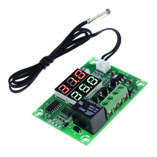 DC 12V XH-W1219 Thermostat Temperature Controller Switch Module Dual LED Digital Display + Waterproof NTC Sensor Module