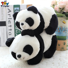 35cm Cartoon Cute China Panda Plush Toys Stuffed animal Christmas Birthday Gift Present For Baby Kids Children Friend Triver Toy(China)