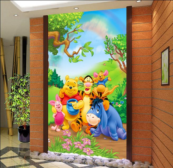 Custom 3d Photo Wallpaper Porch Living Room Mural Winnie The Pooh Cute  Cartoon Painting Sofa TV Part 97