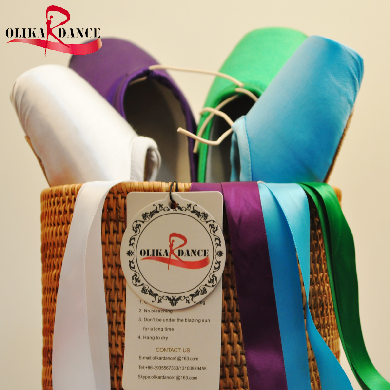 Colorful Ballet Pointe shoes Silky Satin Material Beautiful Colors Professional Ballet dance Pointe shoes<br>
