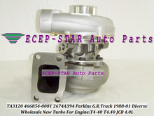 TA3120 466854-0001 466854-5001S 466854 2674A394 Turbo Turbocharger For Perkins G.R. Truck 1988-2001 Diverse T4-40 T4.40 JCB 4.0L