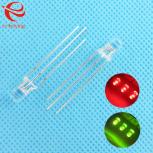 5mm LED Bi-Color Common Cathode Round Light Emitting Diodes Two Dual Color Red Green  Ultra Bright Transparent  100 pcs/lot