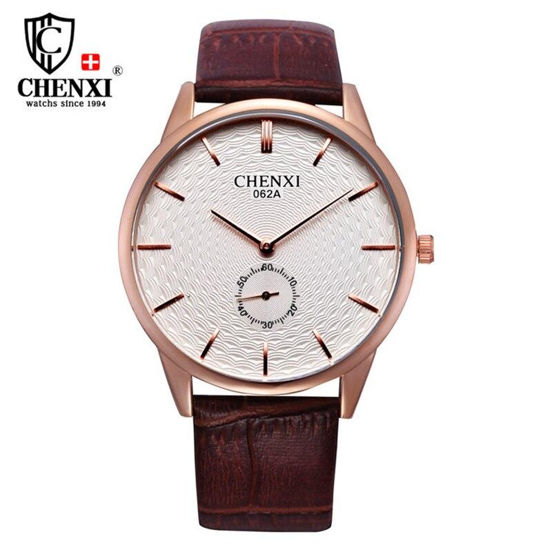 CHENXI 2017 Luxury Brand Genuine Leather Strap Watches Men Casual Ultra Thin Quartz Watch Gentleman Waterproof Wristwatch Reloj<br><br>Aliexpress