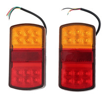 Durable Pair 12v LED Stop Rear Tail Indicator Reverse Lamps Lights Trailer Car Truck Van Combination Taillights