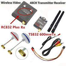FPV 5.8G 5.8GHz 600mW Wireless AV Audio Video 48CH RC Transmitter TX TS832 & Receiver RX RC832 Plus For Racing drone F450 QAV250