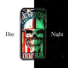 Luminous Phone Cover For Iphone 4 4S 5 5S 5C 5SE 6 6S 6PLUS 6SPLUS Colorful Hard Plastic Protector Case Baseball Flower Skull(China)