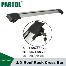 Partol 1x Car Roof Rack Cross Bar Top Box Luggage Boat Carrier Anti-theft Lock Adjustable For 93~99 99-105 105-111cm vehicles