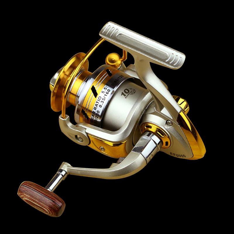 FDDL Metal Fishing Reel Baitingcasting Reel 5.51 EF1000-7000 10BB Lake Ocean Ice Fishing Gear Spinner Reel Fishing Coils (11)