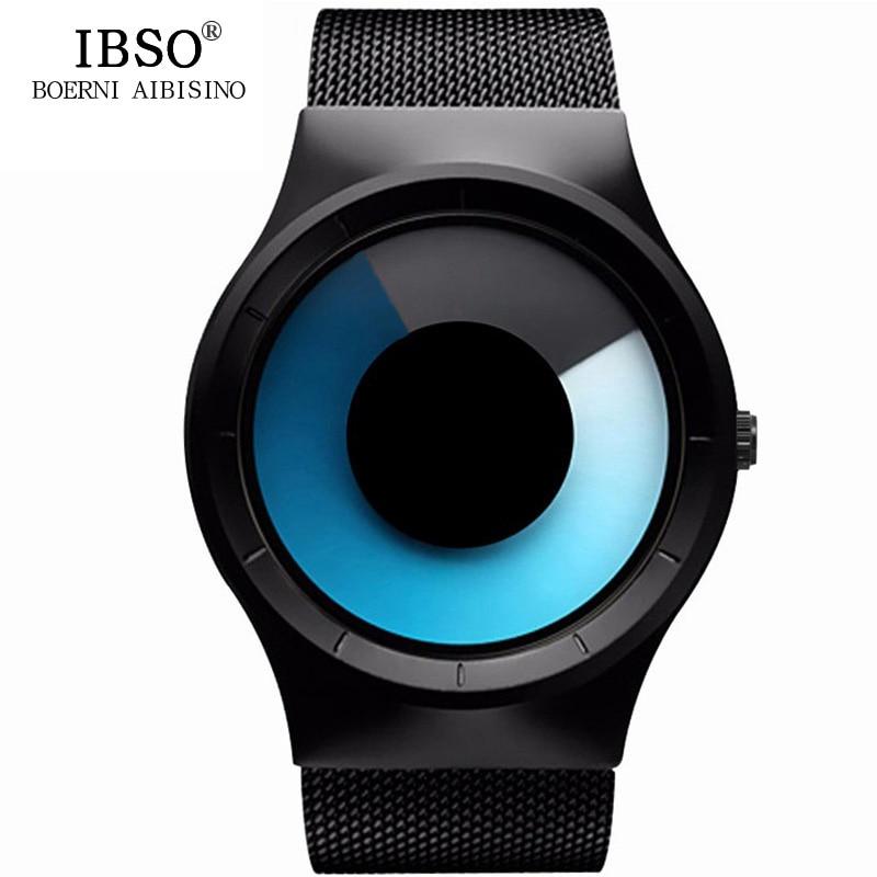 IBSO Mens Watches Top Brand Luxury Steel Mesh Strap Geneva Quartz Sport Watch Men Fashion Blue Ocean Style Relogio Masculino<br><br>Aliexpress