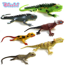 Big Lizards Reptile Simulation plastic forest wild animal model toys ornaments Lifelike PVC figurine home decor Gift For Kids(China)