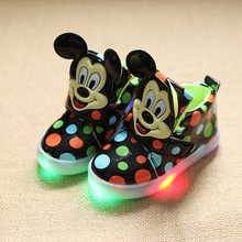 rabbit police brand luminous shoes fashion cute LED lighting children shoes  Lovely kids gilrs boys  sneakers  boys girls boots