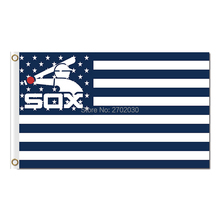 America Country Chicago White Sox Flag Fans Baseball Team Banners Major League Baseball Flags Banner 3x5 Ft Sox City Champions