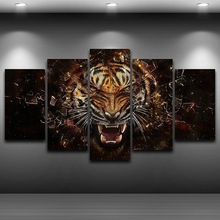 HD Printed Home Decor Artistic Print Painting on Canvas wall art pictures Framed Spray Oil Painting Decoration Tiger Head AE0164