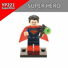 Single Sale Superman hulk Iron Man DC Super Heros Building Blocks DIY Toy Brick Action Figure Model Gifts For Children YP221