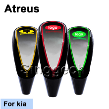 Atreus Car-Styling Shift Gear Knob For kia Rio K2 Ceed Soul Cerato Sorento Sportage Touch Sensor LED Light Colourful 5/6 Speed(China)