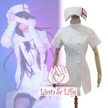 Danganronpa 3 Side: Desesperación Mikan Tsumiki Blanco Nurse Cosplay Costume + Vendaje(China)