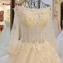 Buy Angel Tree Ball Gown Wedding Dress 2018 Vintage Wedding Dress Puffy See Real Lantern Long Sleeve Wedding Dress for $140.44 in AliExpress store