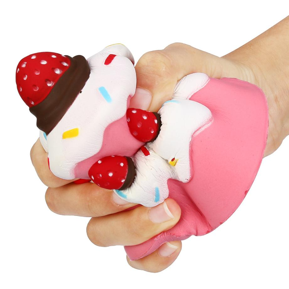Sweet Squishy Jumbo Strawberry Cake Scented Super Slow Rising Toy Kids Cute Squeeze Toy Fidget Toys For Kids#YL5