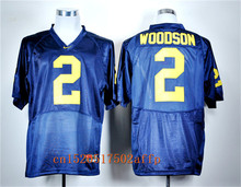 Nike 2017 Wolverines Charles Woodson 2 Navy Blue Football Limited Boxing Jersey(China)