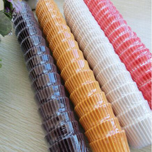 300Pcs/Lot Paper Colorful flower paper Cupcake Copa Baking Round Shape Mold Tools Bakeware Kitchen Supplies 6ZA254