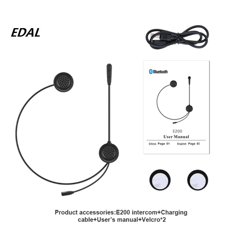 EDAL Man Riding A Motorcycle Security Helmet Bluetooth FM Walkie-talkie / Double 300 Meters Bluetooth Intercom Headphones<br>