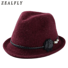Vintage Spring And Autumn Hats Female Wool Knit Fedora Winter Warm Bowler Jazz Top Cap Women Felt Hat(China)