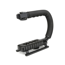 SHOOT C Shaped Holder Video Handheld Stabilizer Steadycam DSLR Nikon Canon Sony Yi Gopro Camera Phone Steadycam Holder Grip
