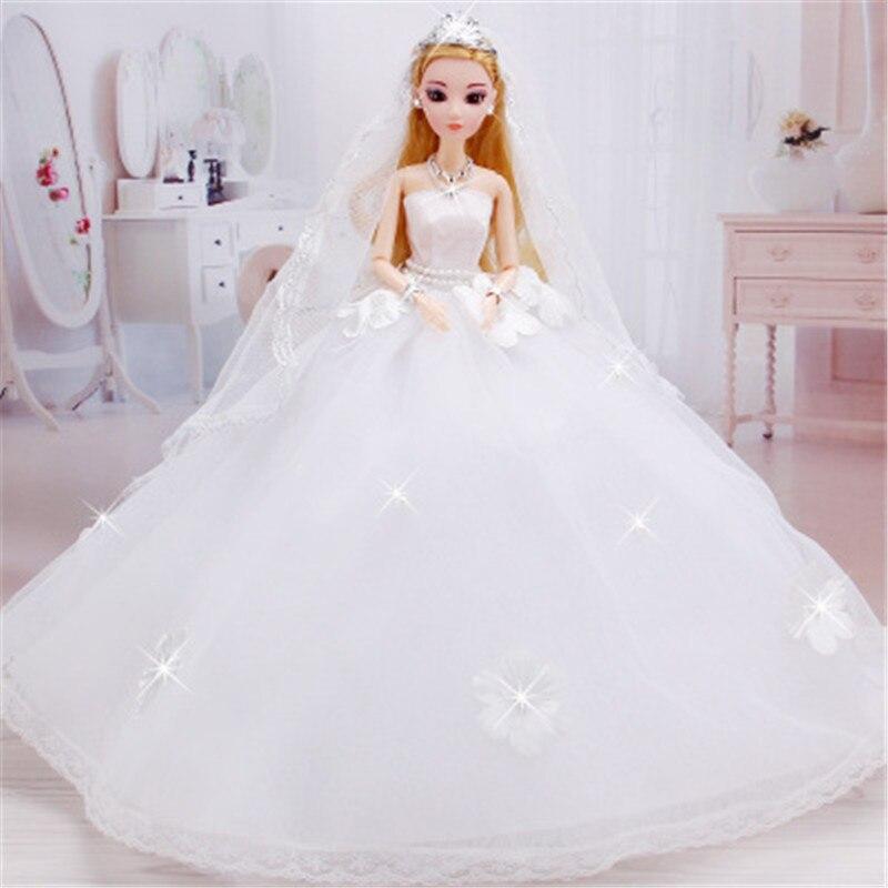 43CM Wedding dress fashion Princess dolls, Car wedding suits Princess, girls toys, birthday gifts 12 joint dolls decoration<br><br>Aliexpress