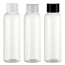 Empty Clear Plastic Bottle 60ml Essential Oil Packaging Shower Gel Bottles Screw Top Cap Makeup Refillable Bottles Container
