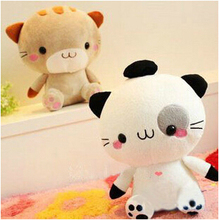 "1pcs 8"" 20cm super cute high quality Japan big face kitty cat , plush kawaii cat toy, birthday  graduation gift for children"