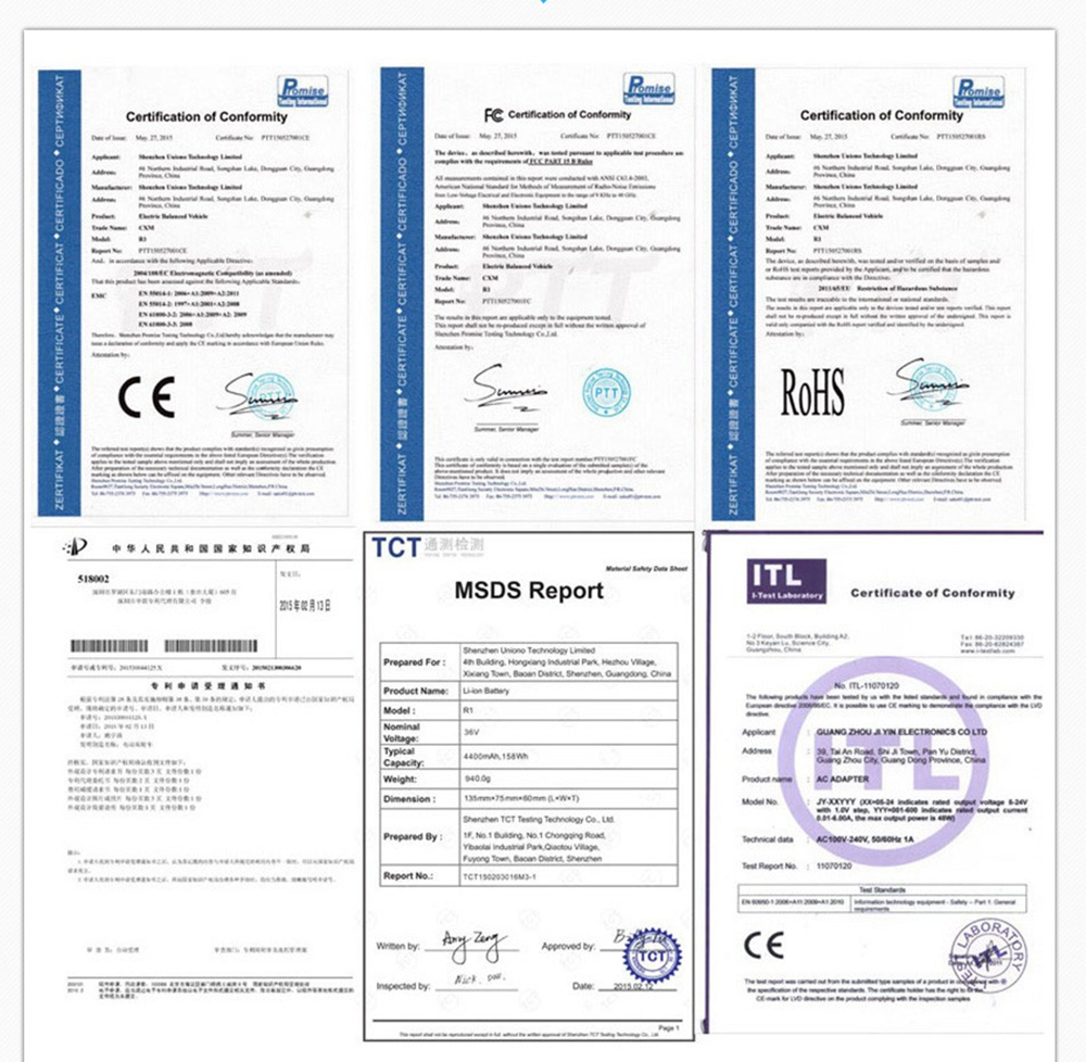 certification of motherboard