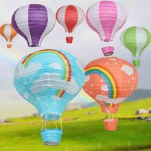 10pcs/lot 12'' 30cm Chinese Handcrafts Hot Air Balloon Kid's DIY Gifts Rainbow Star I Love You Print Party Wedding Outdoor Decor