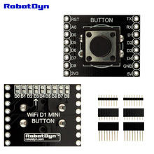 Button Shield for WeMos D1 mini, with pin-headers set. With change of I/O connection.