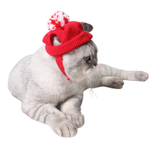1Pcs Christmas Pet Hat Red Cute Warm Dog Cat Cap Pet Supplies Christmas Hair Accessory Decoration Home Party