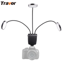 Travor ML-3D flexible adjustable angle lighting with Large LCD display Macro LED Ring Flash for Canon Nikon Close-up Photography(China)